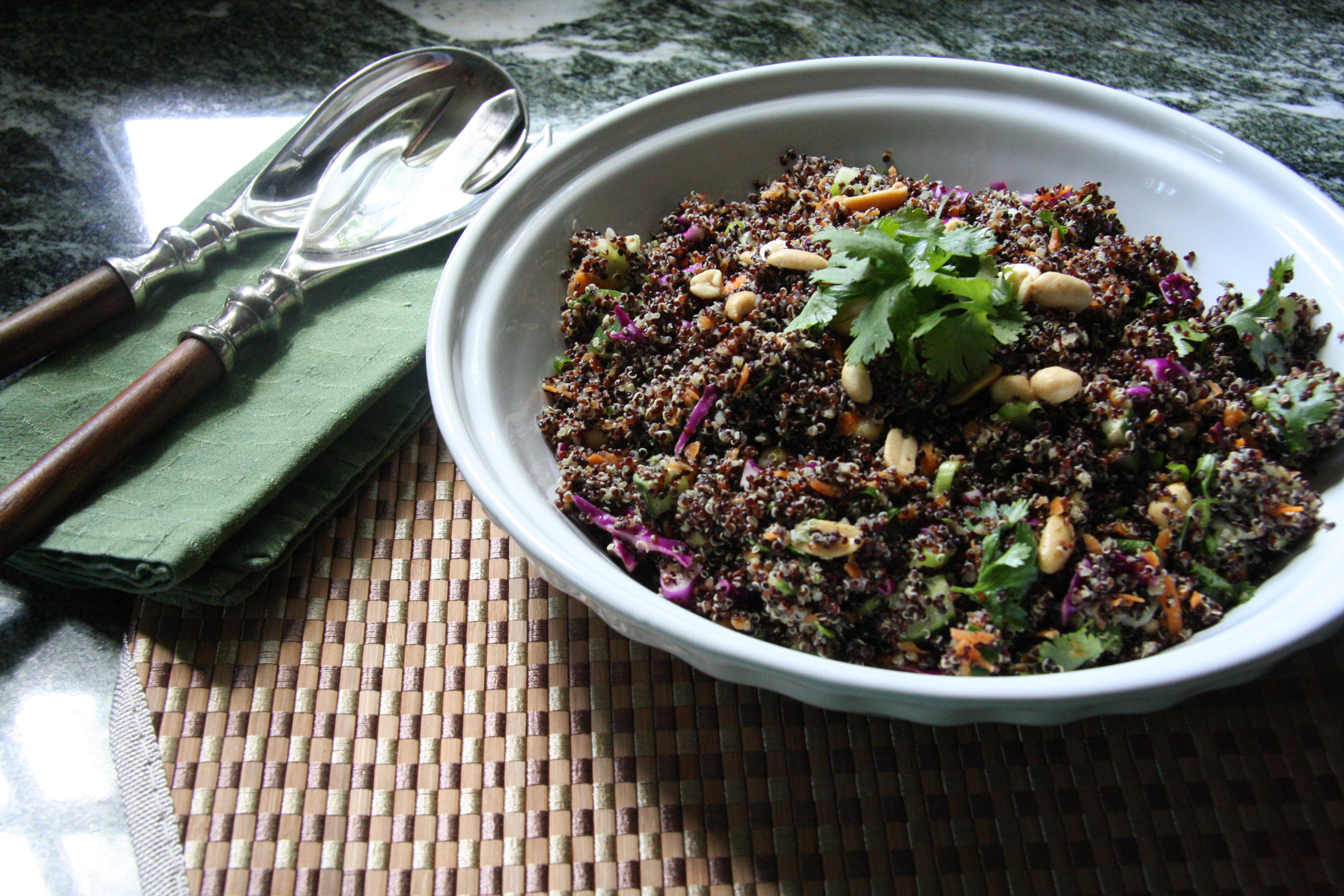 Squash And Quinoa With Cilantro-Lime Dressing Recipe — Dishmaps