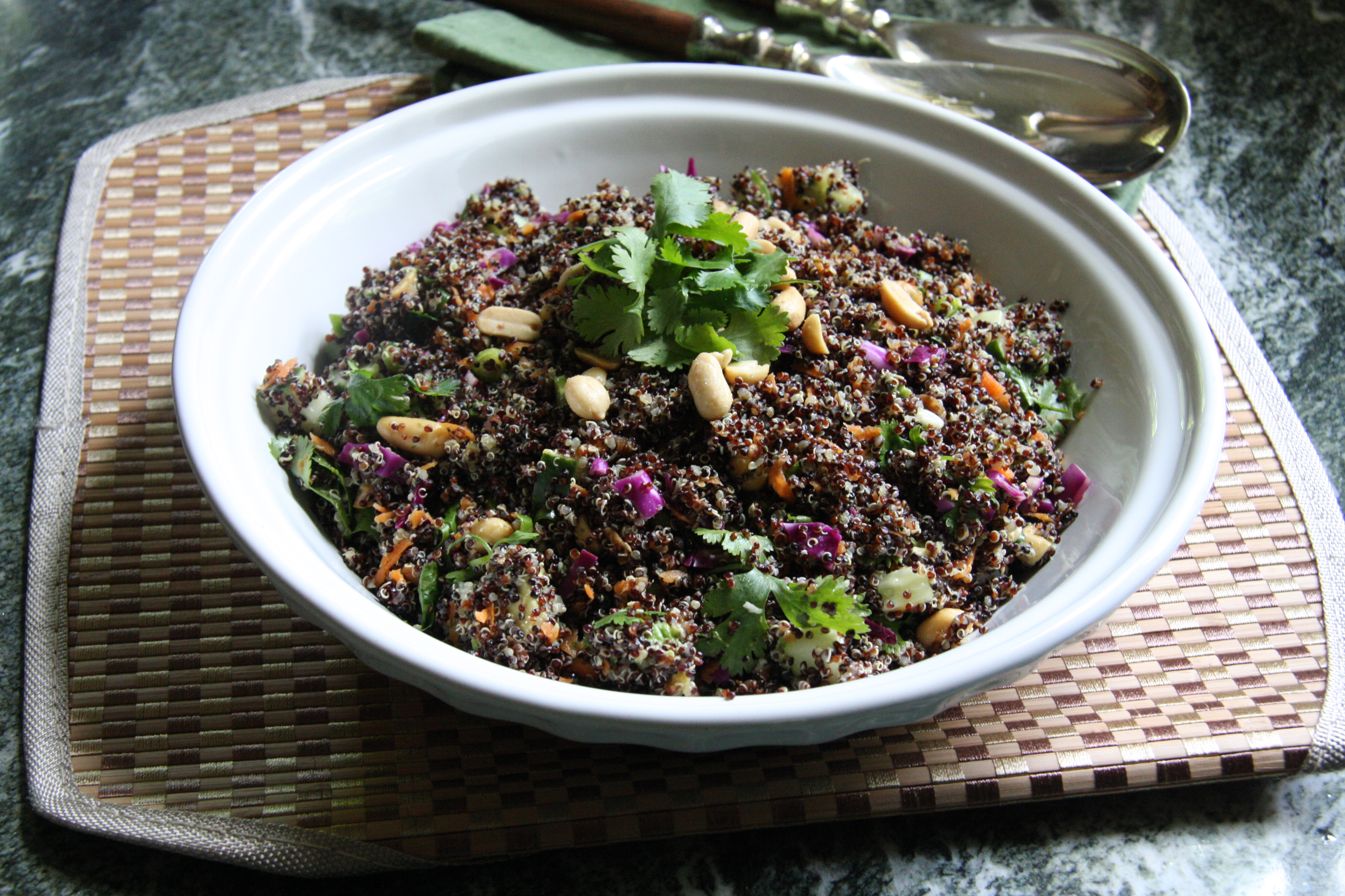 Asian Quinoa Salad with Cilantro Coconut Dressing - 24 Carrot Life