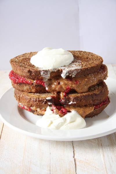 Vegan PB & J French toast Sandwiches I 24 Carrot Life